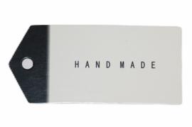 Wit/zwarte kaartjes Handmade 6,5x3 cm. Per 10 stuks.