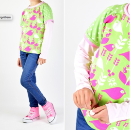 Lillesol & Pelle girls/boys raglan shirt Maat 80-164