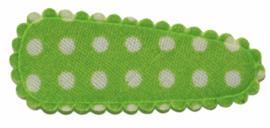 kniphoesje katoen frisgroen met witte stip 3 cm