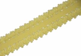 Elastisch kant geel 20 mm per 0,5 meter