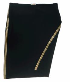 Dames rok zwart met gouden band maat S-XL