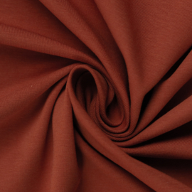 Tricot: effen steenrood (Swafing kleur 425 seizoen 2021) per 25cm