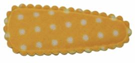 kniphoesje katoen geel met witte stip 3 cm