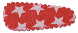 kniphoesje katoen rood met witte sterretjes 3 cm