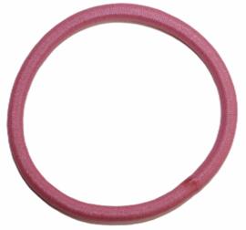 Haarelastiekje roze +/- 45 mm, dikte 4mm