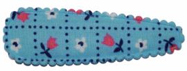 kniphoesje katoen blauw met tulpen 5 cm