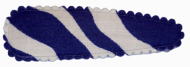 kniphoesje katoen blauw/wit zebra 5 cm