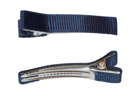 Alligator haarclipje 10x50 mm marineblauw, per stuk