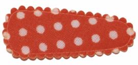 kniphoesje katoen oranje met witte stip 3 cm