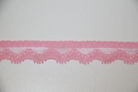 Elastisch kantje roze 13mm per 0,5 meter