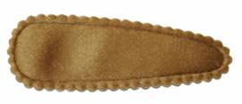 kniphoesje fluweel goudbruin 5 cm