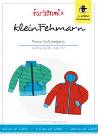 Farbenmix papier patroon fleece/ softshelljas  Klein Fehmarn  86/92 - 146/152 jongens & meisjes