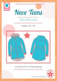 Farbenmix papier patroon herfst/winterparka  Neve Teens  128 - 164