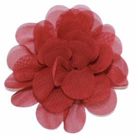 Stoffen bloem 5 cm bordeauxrood