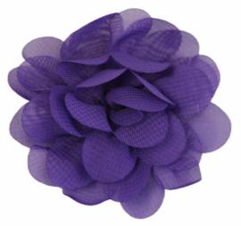 Stoffen bloem 5 cm paars