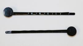 Schuifspeld 56mm met plakvlak 8mm zwart, per stuk