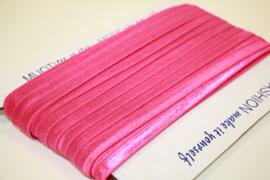 Elastisch biaisband/vouwtres fuchsia roze 20 mm per 5 meter