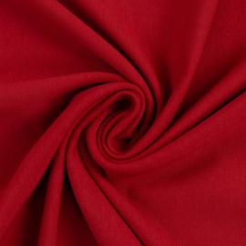 Brushed joggingstof: rood (Swafing kleur 338) per 25 cm