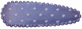kniphoesje lila met witte stip satijn 5 cm