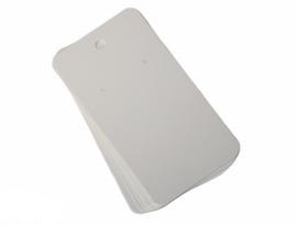 Oorbellen kaartjes wit 9x5 cm, per 10 stuks