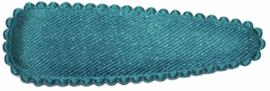 kniphoesje satijn petrol 5 cm