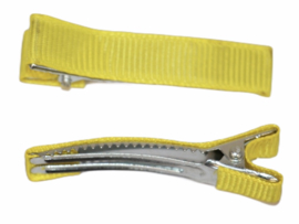 Alligator haarclipje 10x50 mm geel, per stuk
