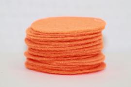 Rond viltje oranje 40 mm, per stuk