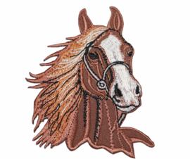 Applicatie paardenhoofd 7x8 cm