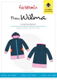 Farbenmix papier naaipatroon lang sweatvest  Wilma 34/36 - 50/52