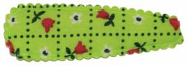 kniphoesje katoen groen met tulpen 5 cm