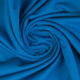 Tricot: effen blauw (Swafing kleur 842),  per 25cm