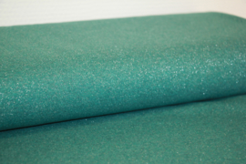 Boordstof glitter. groen/zilver Glamour. Rondgebreid 47 cm. Per 25 cm