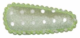 kniphoesje satijn mint met witte stip 3 cm