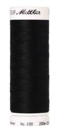 Amann Seralon machinegaren kleur zwart 4000