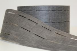 Vlieseline tailleband 8cm zwart per meter