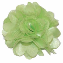 Tule bloem 5 cm lichtgroen