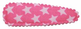 kniphoesje katoen roze met witte sterren 5 cm