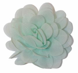 Stoffen bloem 7 cm mint