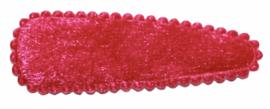 kniphoesje fluweel fuchsia 5 cm