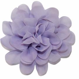 Stoffen bloem 10 cm lila