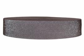 Glitter elastiek taupe 50 mm per 0,5 meter
