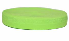 Elastisch band neon groen 16 mm per 0,5 meter