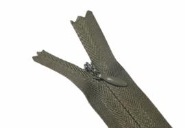 Blinde rits 35 cm olijfgroen