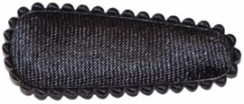 kniphoesje satijn effen donkergrijs 3 cm