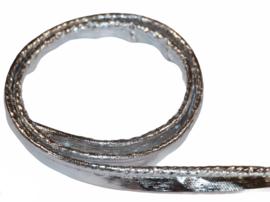 Paspelband lakleer zilver 12mm, per 0,5 meter