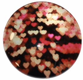 Glas cabochon 25mm: Little hearts