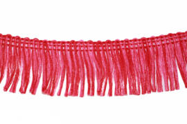 Franjeband 32 mm rood-roze, per 0,5 meter