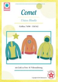 Farbenmix papier patroon Comet (Sportieve unisex hoody) maat 74-164