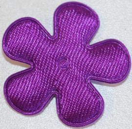 Bloem applicatie 25 mm satijn paars per 5 stuks
