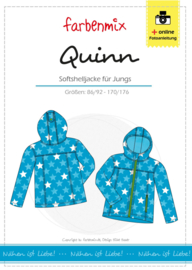 Farbenmix papier patroon Quinn, softshell jack 86/92 - 170/176